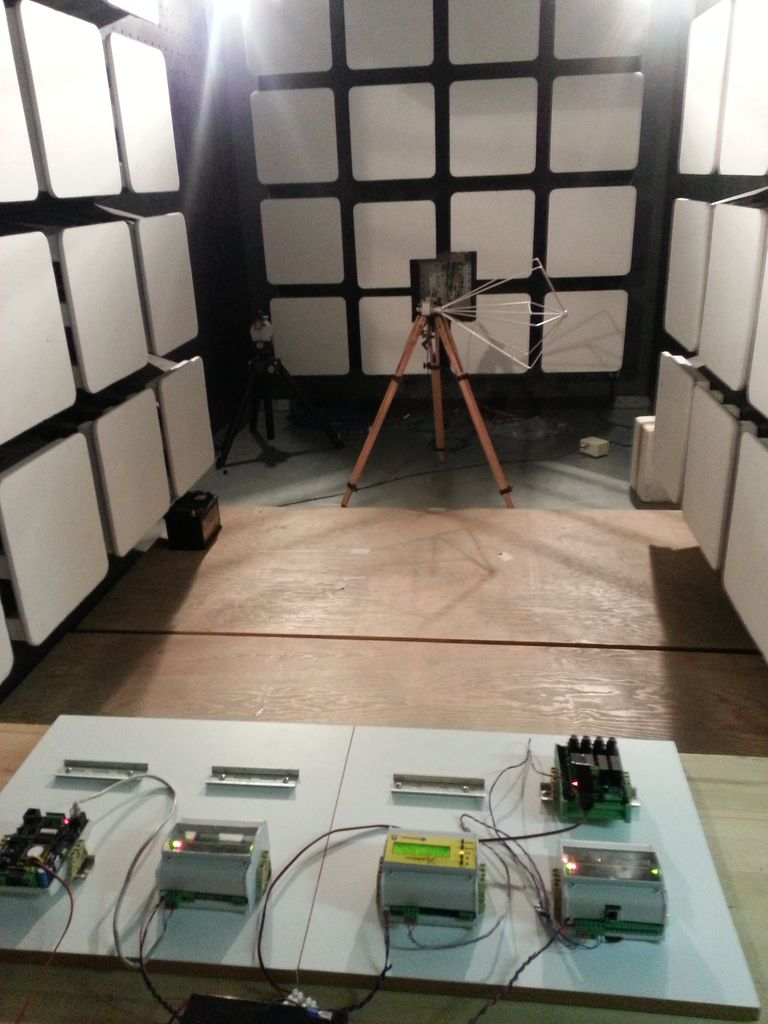 EMC TESTS: In the anechoic chamber