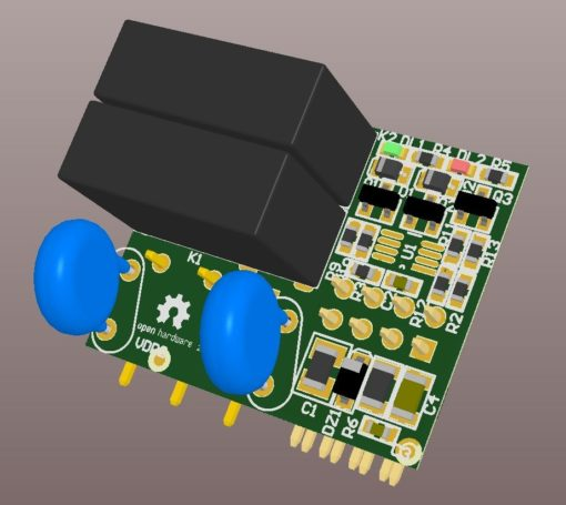 Dual Relay SnipCard - 3D view