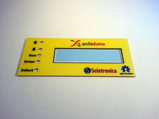 Archiduino cover panel for LCD board