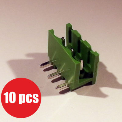 Pluggable terminal block 5mm pitch 3 ways angled 90 10 pcs