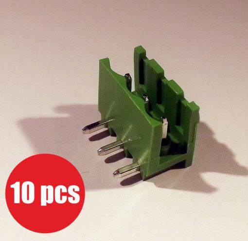 Pluggable terminal block 5mm pitch 3 ways angled 90 10 pcs